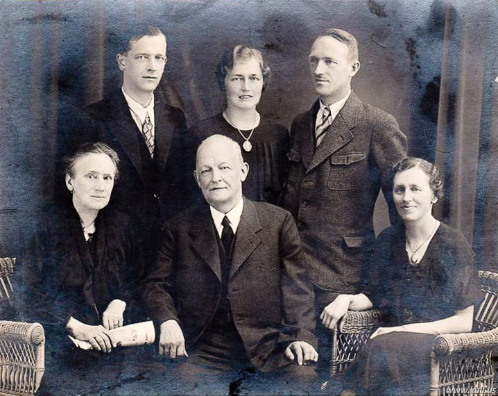Seated - L to R: Selina, Adolph, daughter Selina Standing - L to R: Unknown, Elsa, probably Eugen