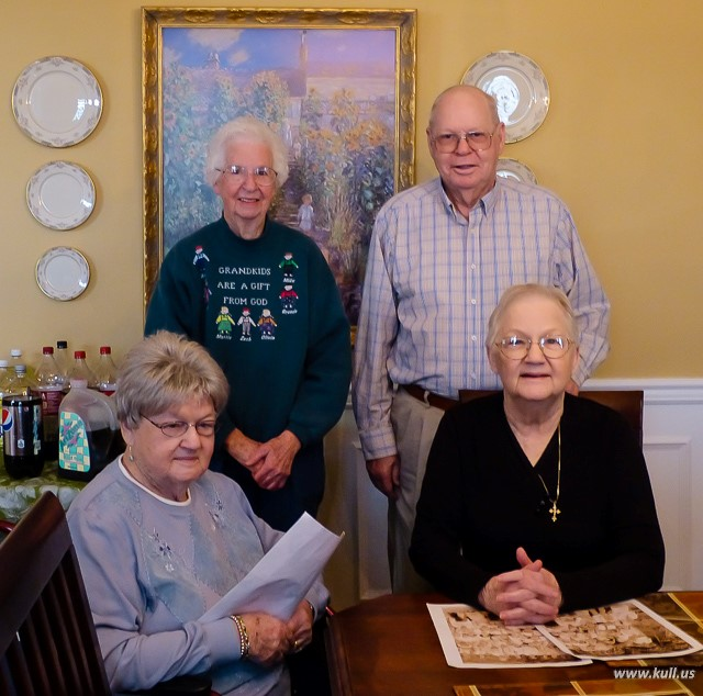 Webster siblings - November, 2013.   Clockwise from lower left: Lavetta Kull, Jean Ryan, W.B. (Dub), and Bonnie Acker.
